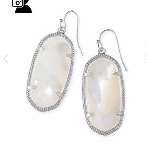 Kendra Scott Jewelry - Kendra Scott Elle Silver Earrings Mother of pearl